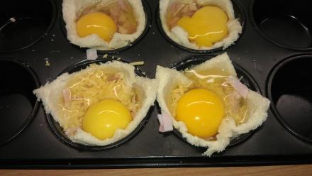 muffins voor het bakken