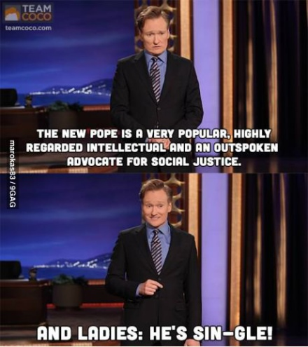 the pope is single