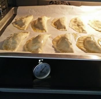 20 minuten op 200 graden in de oven